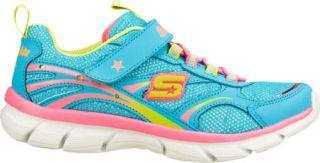 Infant/Toddler Girls Skechers S Lights Lite Dreams II   Blue/Multi Slip on Shoe