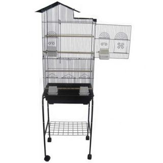 YML Villa Top Small Bird Cage with Stand and 4 Feeder Doors 6894_4814