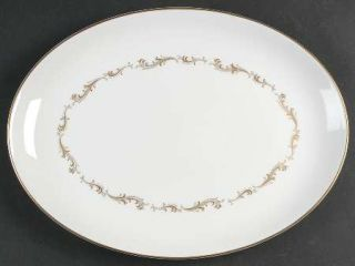 Royal Doulton French Provincial 13 Oval Serving Platter, Fine China Dinnerware