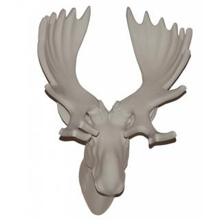 13 inches White Moose Head Wall Plaque