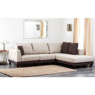 ... Abbyson Living Verona Fabric Sectional Sofa ...