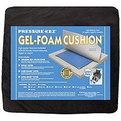 Hudson Pressure Eez Gel foam 16x16 Nylon Wheelchair Seat Cushion