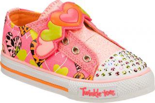 Infant/Toddler Girls Skechers Twinkle Toes Shuffles Slide Step   Pink Vegetaria