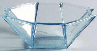 Fostoria 2402 Blue Mint Dish   Line #2402, Azure Blue, Multi Sided