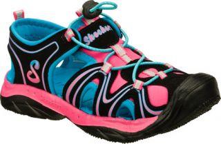 Infant/Toddler Girls Skechers Cape Cod   Black/Pink Vegetarian Shoes