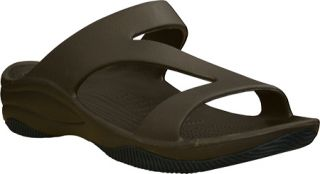 Womens Dawgs Z Sandal/Rubber Sole   Dark Brown/Black Casual Shoes