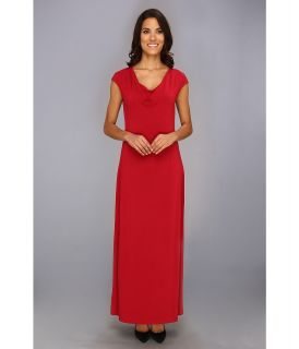 Tommy Bahama Tambour Cowl Long Dress Womens Dress (Red)