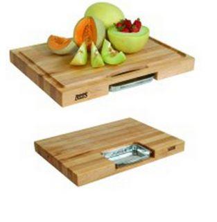 John Boos Gift Collection w/ 18x18x2.25 in Cutting Board, Pan & Juice Groove, Cream