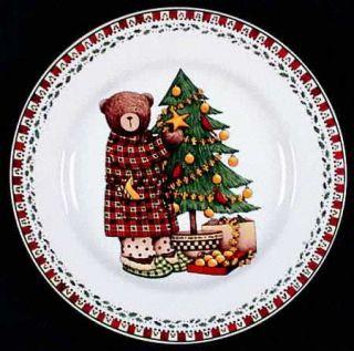 Sakura Christmas Patch Salad Plate, Fine China Dinnerware Tan,Green ...