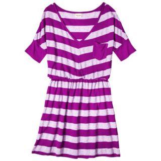 Mossimo Supply Co. Juniors V Neck Elbow Sleeve Dress   Violet XXL(19)