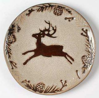 North Pole Trading Co. Pine Retreat Ivory Salad Plate, Fine China Dinnerware   A