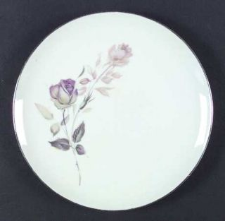 Style House Lori Dinner Plate, Fine China Dinnerware   Pink/Green Roses, Multico