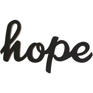 ART Hope Wood Sign Wall Decor, Black