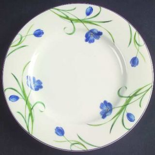 Mikasa Garden Poetry Salad Plate, Fine China Dinnerware   Casual Classics,Blue F