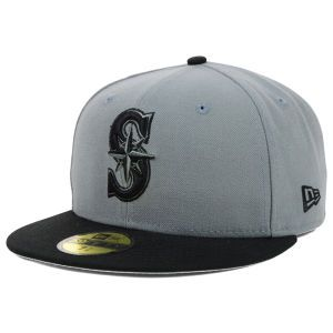 Seattle Mariners New Era MLB FC Gray Black 59FIFTY Cap