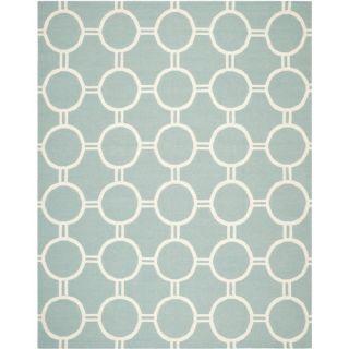 Safavieh Dhurries Light Blue/Ivory Rug DHU636C Rug Size: 8 x 10