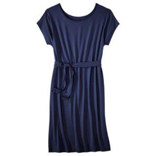 Merona Womens Knit Belted Dress   Xavier Navy   M