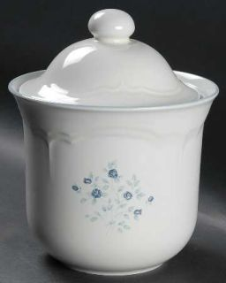 Pfaltzgraff Poetry Glossy Sugar Canister, Fine China Dinnerware   Glossy, Newer,