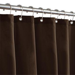 Maytex Microfiber Shower Curtain Liner Chocolate Brown