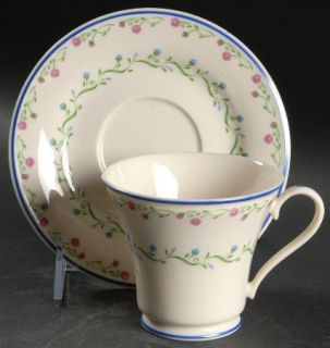 Gorham Southern Charm Footed Cup & Saucer Set, Fine China Dinnerware   Town & Co