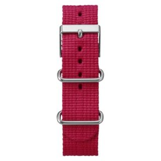 Timex Weekender Solid Canvas Replacement Strap   Red