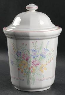Sarma Studios Victorian Flowers Flour Canister & Lid, Fine China Dinnerware   Fl