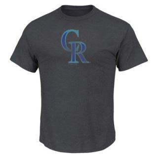 MLB Mens Colorado Rockies Crew Neck T Shirt   Grey (L)