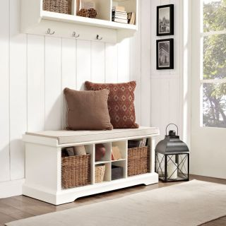 Crosley Brennan Entryway Storage Bench   White   CF6003 WH