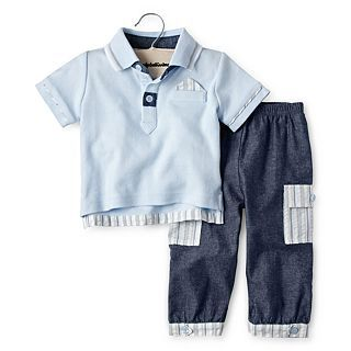 Wendy Bellissimo 2 pc. Pant Set   Boys newborn 9m, Blue, Boys