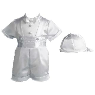 Darius Baptism Short Set with Hat Multicolor   1523   9/12 MONTHS, 9 12 months