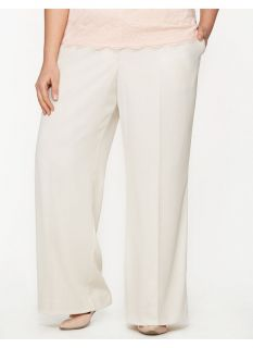 Lane Bryant Plus Size Lena soft twill wide leg pant     Womens Size 20,