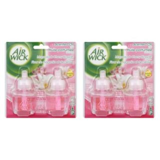 AIR WICK Scented Oils   MAGNOLIA and CHERRY, 1.35 Ounces, 2 Pack
