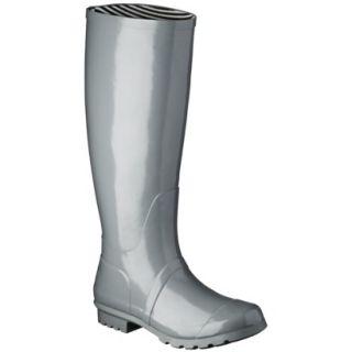 Womens Classic Knee High Rain Boot   Gray 7