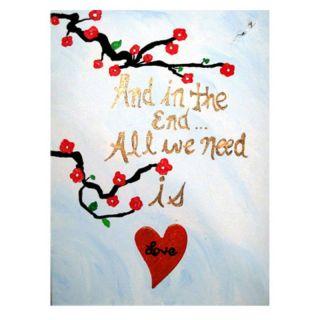Trademark Global Inc All You Need is Love III Canvas Art by Amanda Rea