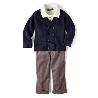 Wendy Bellissimo 3 pc. Cardigan Set   Boys 6m 24m, Navy, Boys