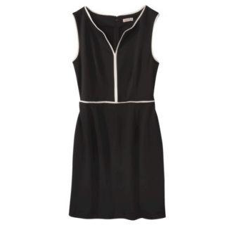 Merona Womens Ponte Dress   Black   M