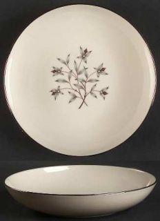 Lenox China Princess Coupe Soup Bowl, Fine China Dinnerware   Gray & Tan Floral