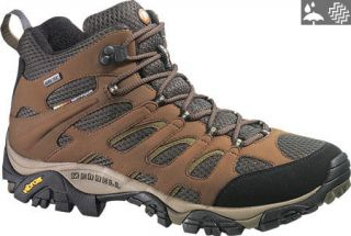 Mens Merrell Moab Mid Gore Tex   Dark Earth Boots