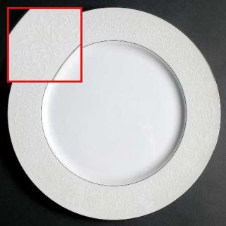 Carlton (Japan) Plymouth Dinner Plate, Fine China Dinnerware   White Scrolls On