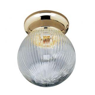 Transitional Polished Brass One light Indoor Flush Sconce