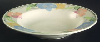 Mikasa Garden Poetry Large Rim Soup Bowl, Fine China Dinnerware   Intaglio Line,
