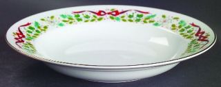 Domestications Twelve Days Of Christmas Rim Soup Bowl, Fine China Dinnerware   B