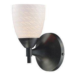 Elk Lighting ELK 10150 1DR WS CELINA CELINA 1 Light SCONCE WITH WHITE SWIRL GLAS