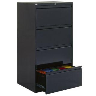 Edsal Sandusky Sandusky Lee 800 Series 30 Inch 4 Drawer Lateral Filing Cabinet