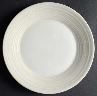 Dansk Tronada Crema Salad Plate, Fine China Dinnerware   Cream/White Rings On Ri