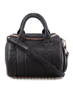 Rockie Small Crossbody Satchel Bag, Black/Rose Golden   Alexander Wang