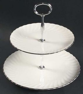 Syracuse Wedding Ring 2 Tiered Serving Tray (Dp, Sp), Fine China Dinnerware   Si
