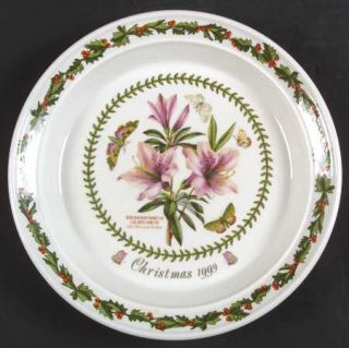 Portmeirion Botanic Garden 1999 Annual Christmas Plate, Fine China Dinnerware