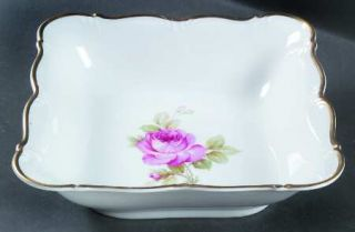Edelstein La Vie En Rose 8 Square Vegetable Bowl, Fine China Dinnerware   Pink