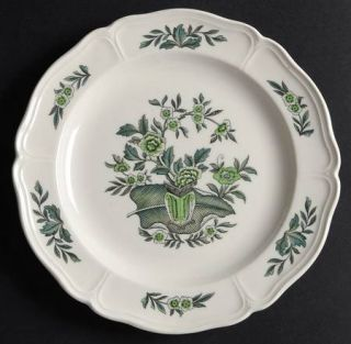 Wedgwood Green Leaf (QueenS Shape) Bread & Butter Plate, Fine China Dinnerware